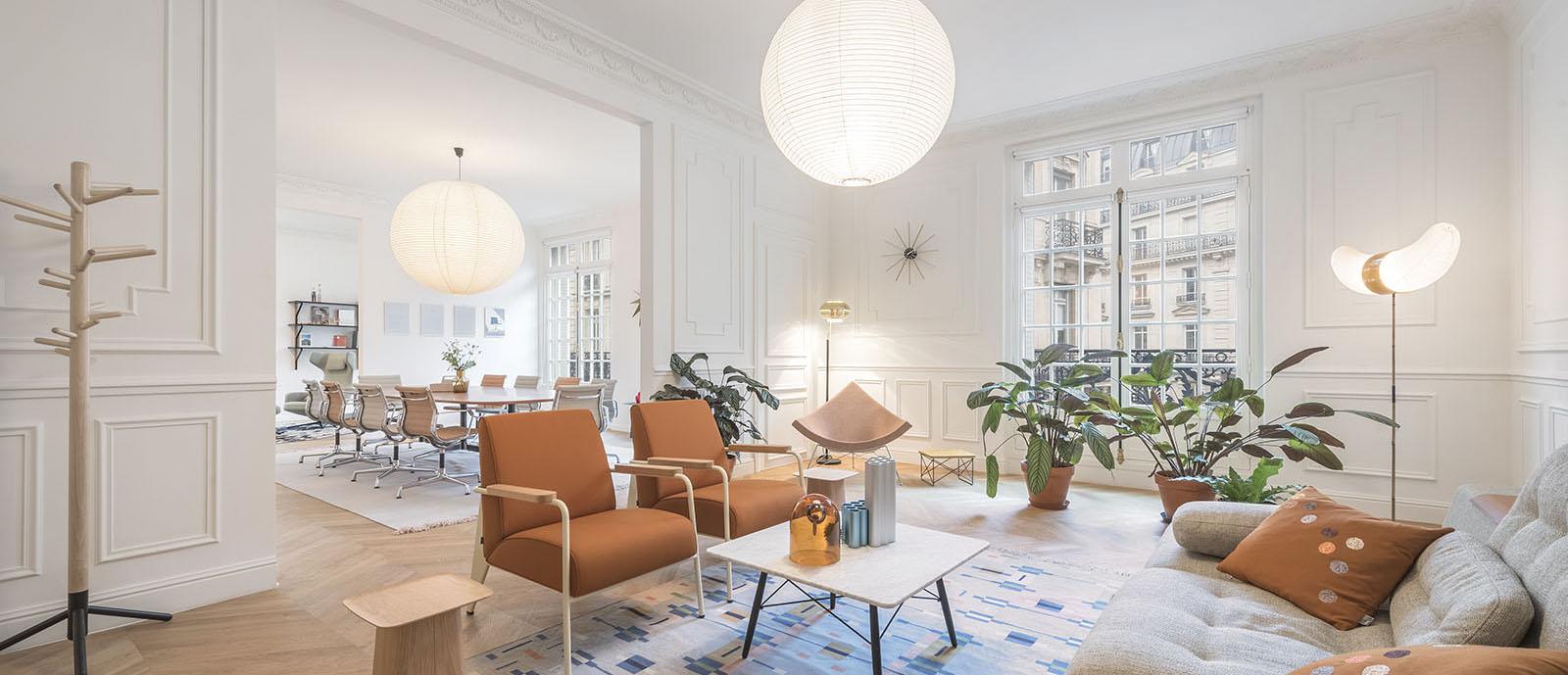 vitra nouveau showroom parisien volcan design. Black Bedroom Furniture Sets. Home Design Ideas